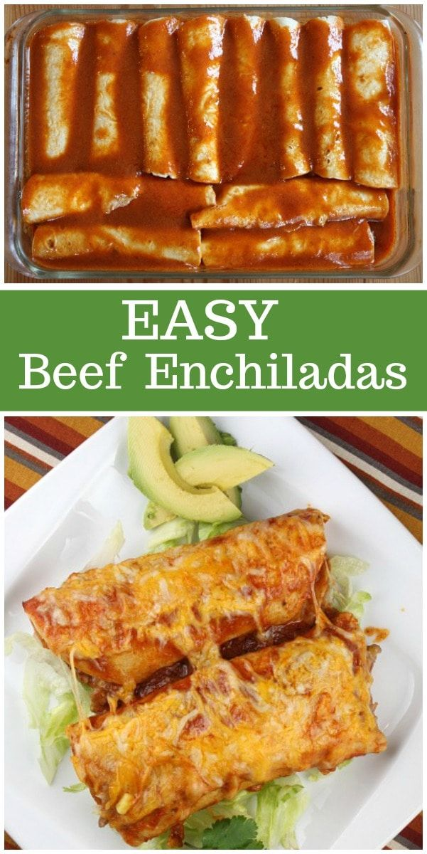 Easy Beef Enchiladas images