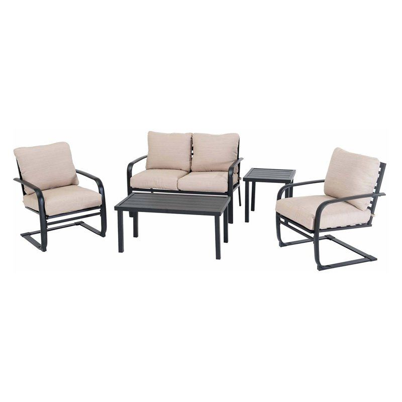 outdoor sunjoy aluminum 5 piece patio conversation set products in rh pinterest com
