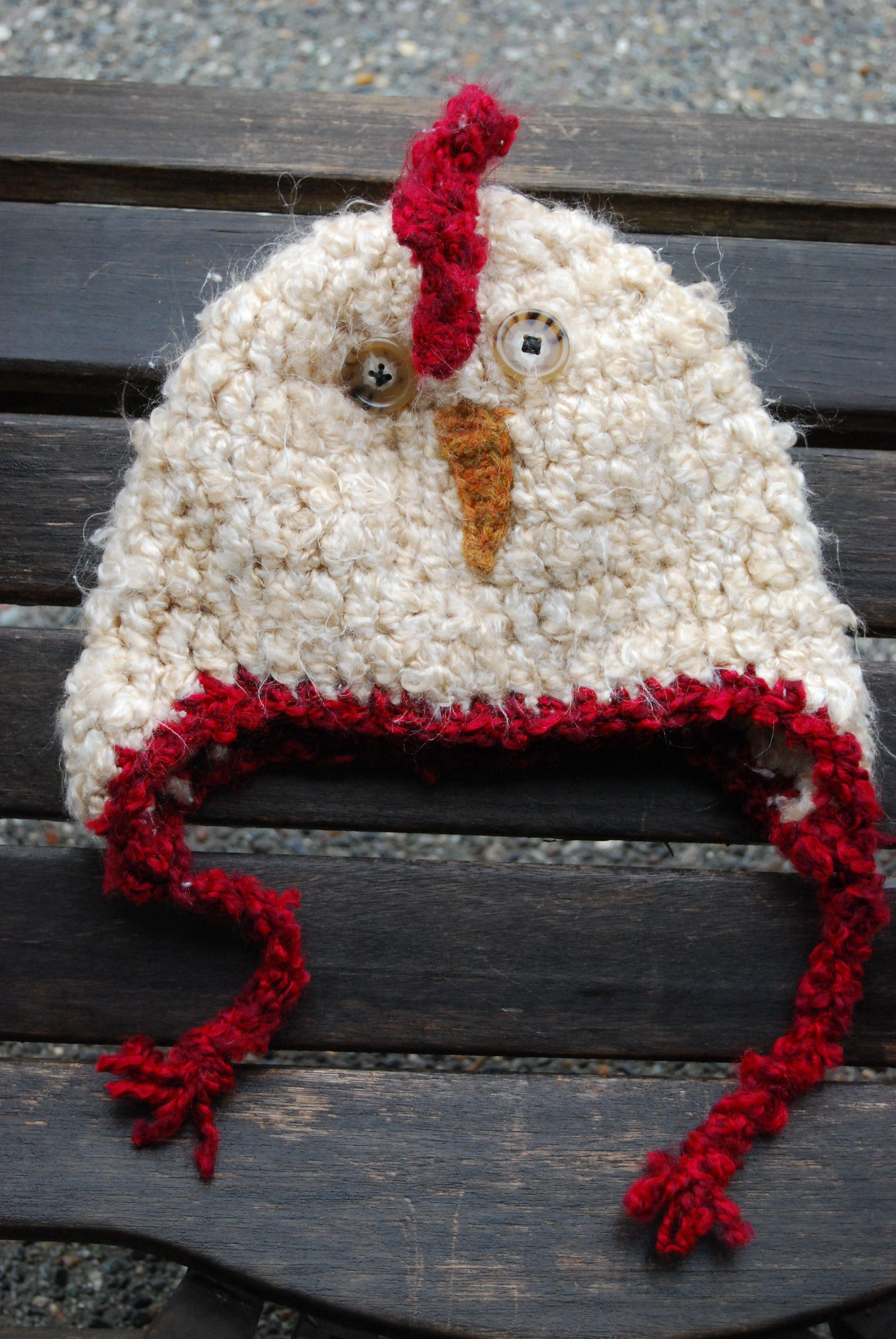 Crochet Chicken Hat | crafts | Pinterest