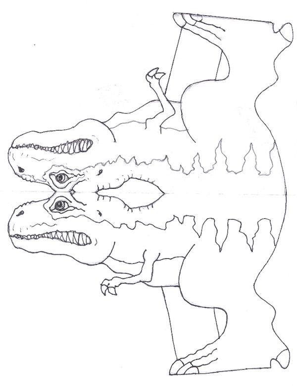 Manualidades para niños: Molde Tiranosaurio Rex (Cuerpo) | PROYECTO ...