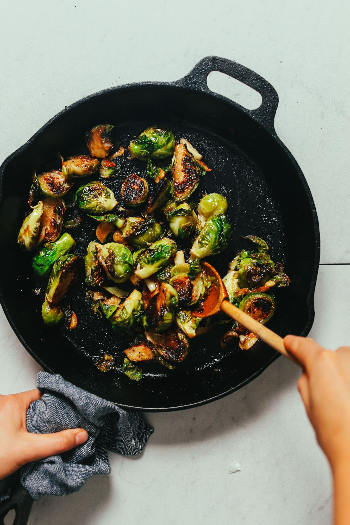 Miso-Glazed Roasted Brussels Sprouts   Minimalist Baker Recipes