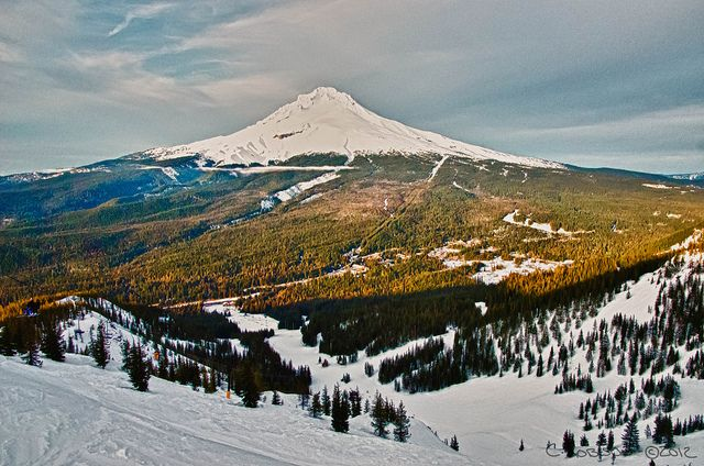 Another photo of mine that I love. Mt. Hood as seen from the top of Ski Bowl.