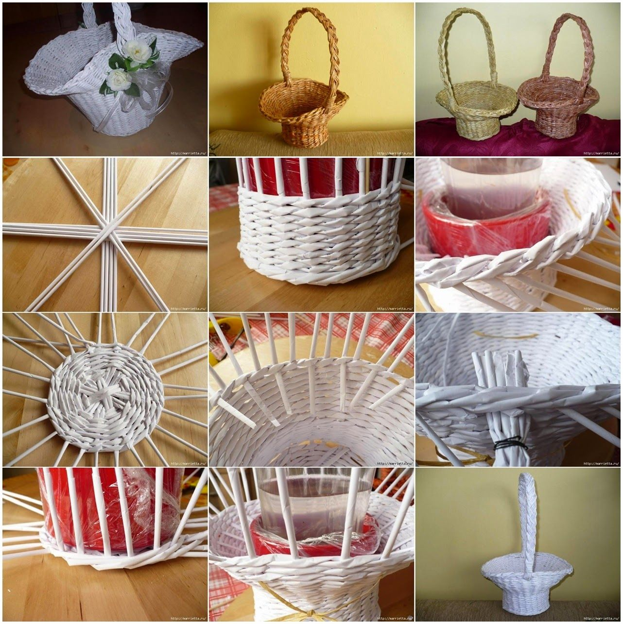 DIY Newspaper Flower Basket Tutorial O All In One