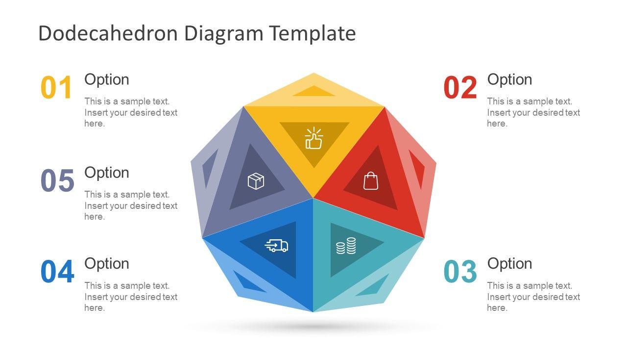 Free Dodecahedron Diagram Template Slides Pinterest Process Flow Presentation Circular Pentagon