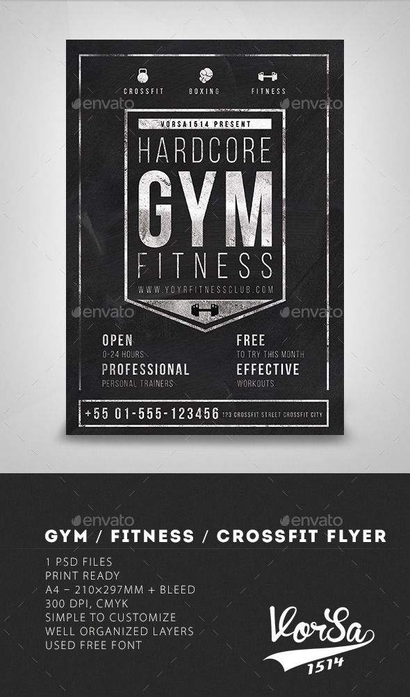 Gym Fitness CrossFit Flyer Template