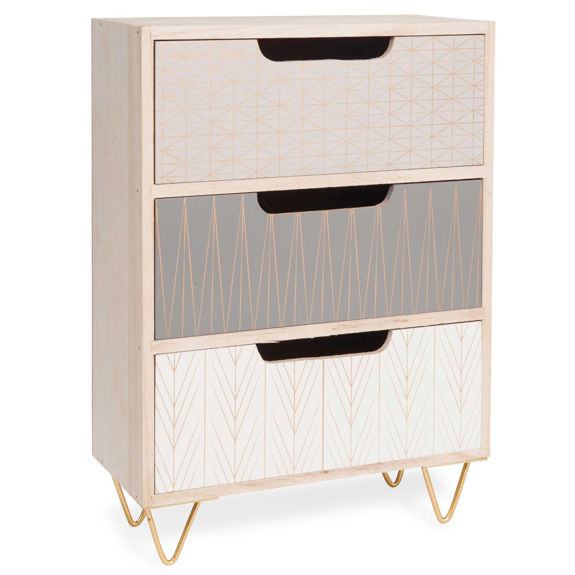 Schachtel Mit 3 Schubladen Aus Holz H 22 Cm SCOOP Auf Maisons Du Monde.  Stöbern Sie In Unserer Möbel  Und Deko Auswahl Und Schöpfen Sie Jede.