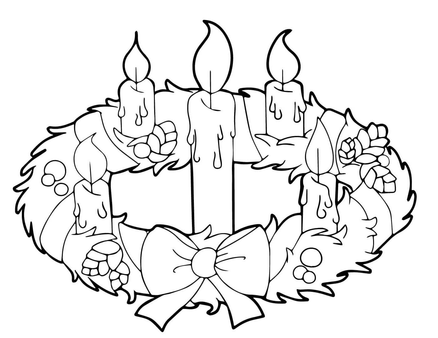 Pin By Maria On Rozmalovki Wreath Drawing Coloring Pages Advent Wreath