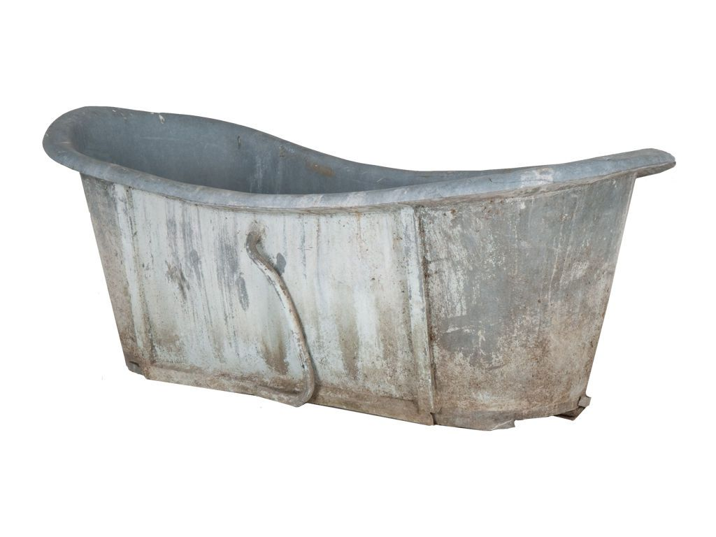 Zinc Finish Furniture Antique Zinc Bathtub Not Painted Furniture But For Reference For