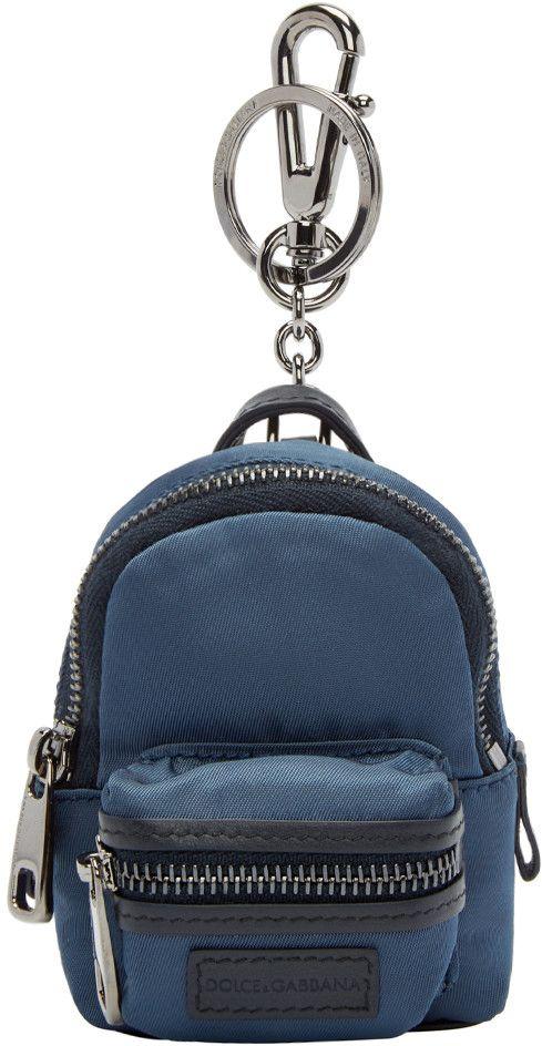 2347a76389 Dolce   Gabbana - Navy Mini Backpack Keychain