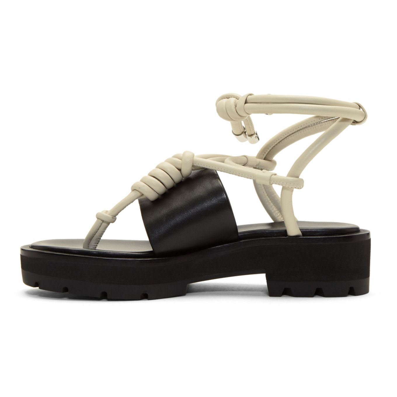 3.1 Phillip Lim & Ivory Strappy Lug Sole Sandals