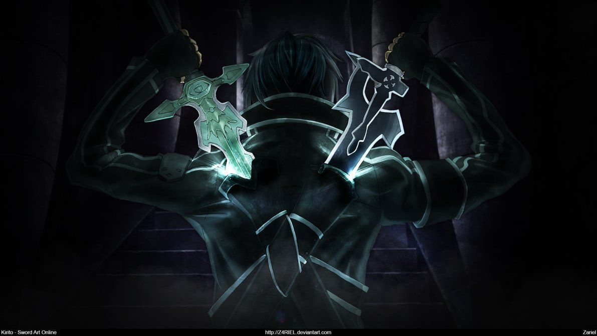 Sword Art Online Kirito Dual Blades Wallpaper Sword Art Online Wallpaper Sword Art Online Sword Art Online Kirito