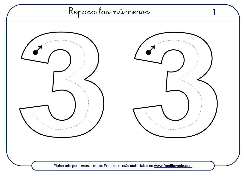 Ejercicios para escribir números para descargar e imprimir