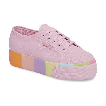 coloured laces platform sneakers - Pink & Purple Superga KCz9Di0zw