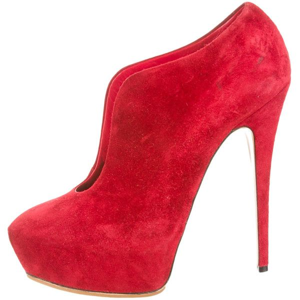 Casadei pointed toe ankle boots - Red