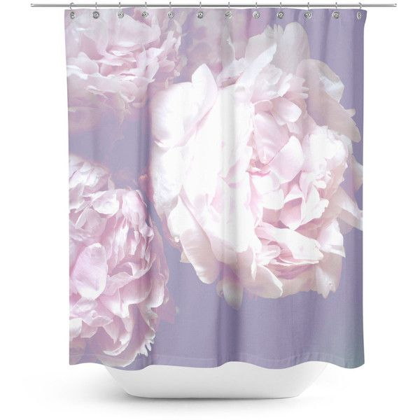 Peony Floral shower curtain ($72) ❤ liked on Polyvore featuring ...