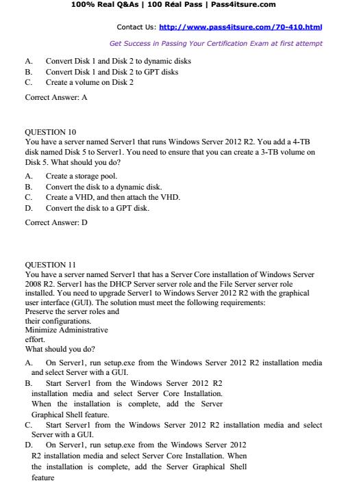 Microsoft 70 410 Brain Dumps High Pass Rate Microsoft 70 410 Dumps
