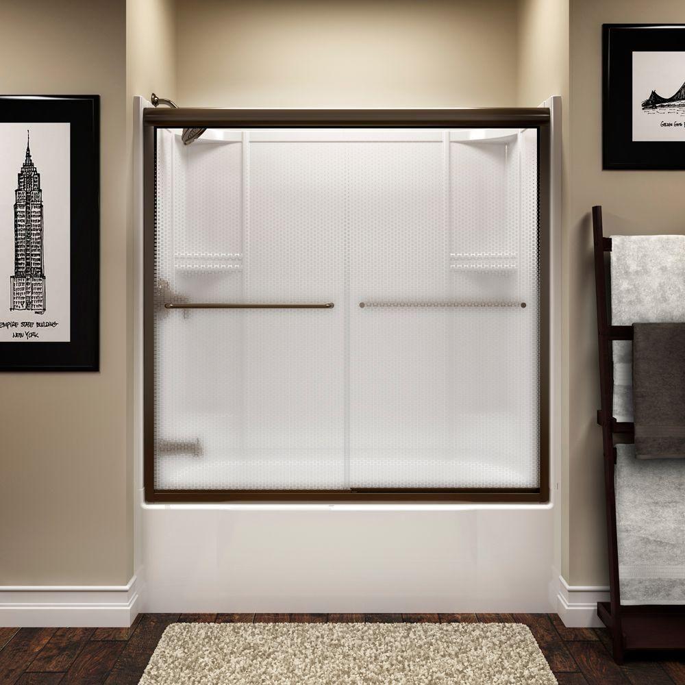 Sterling Finesse 59 5 Shower Sliding Glass Door Tub Shower