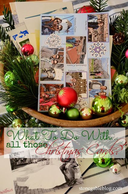 What to do with all of those Christmas cards?  I'll show you how to display them and enjoy them!