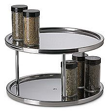 image of Stainless Steel Two-Tier Turntable -for the bathroom