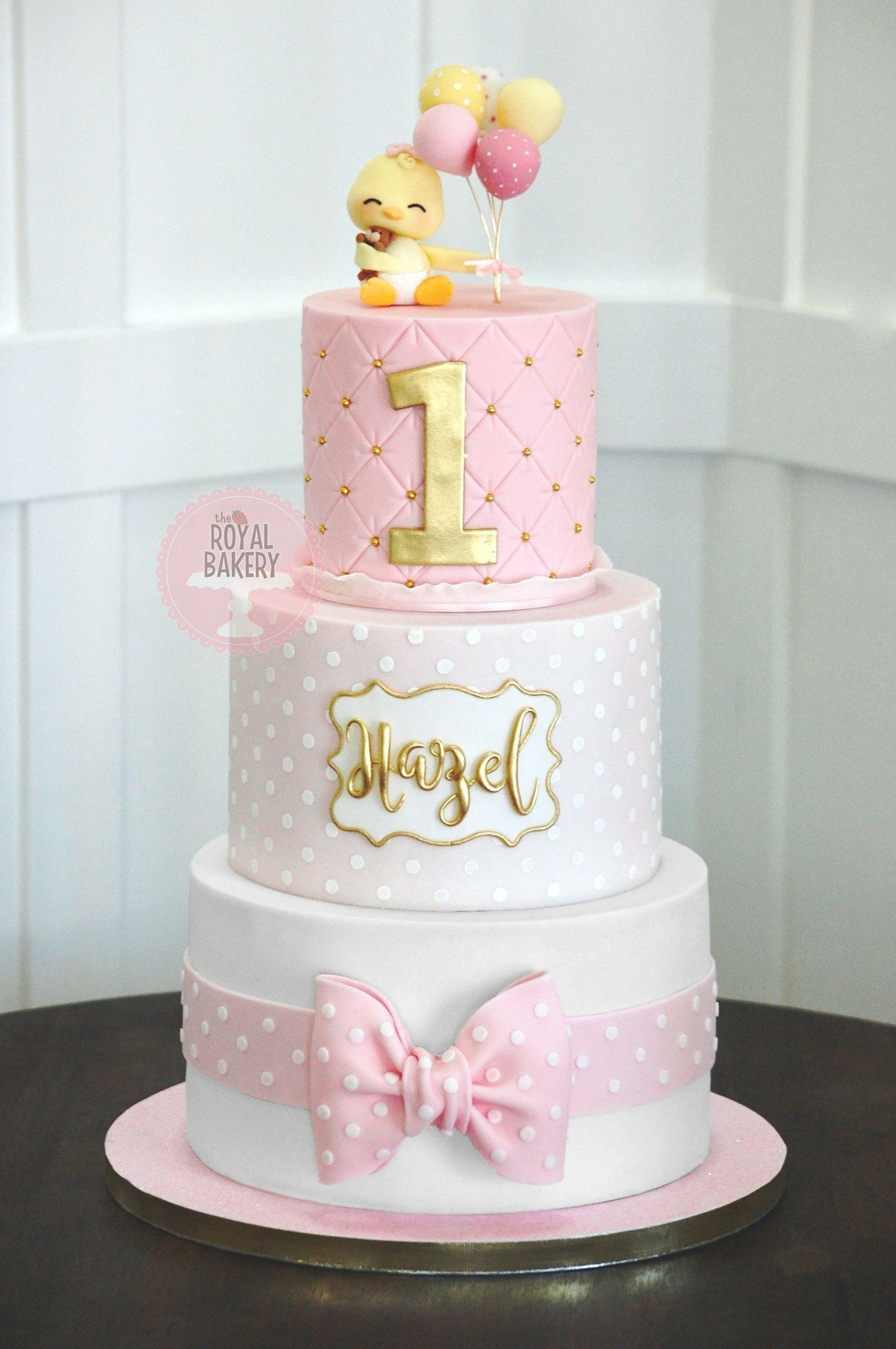 Magnificent Duck Cake 1St Birthday Cake For Girls Baby Birthday Cakes Personalised Birthday Cards Veneteletsinfo