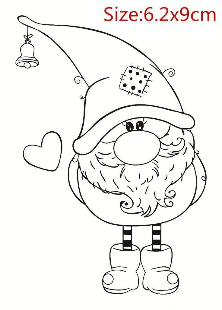 Comicfiguren Transparent Silikon Stempel Und Metall Sterben Blatt Blatt Blatt Weihnachtsmalvorlagen Weihnachten Zeichnung Weihnachten Zeichnen