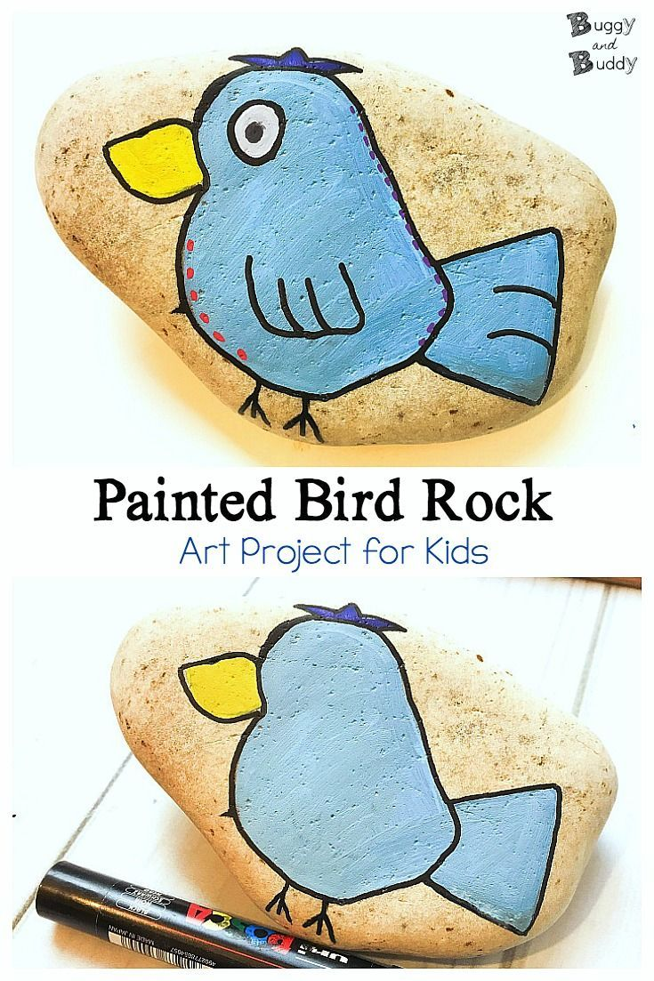 DIY Painted Bird Rock Tutorial | Bird, Rock and Tutorials