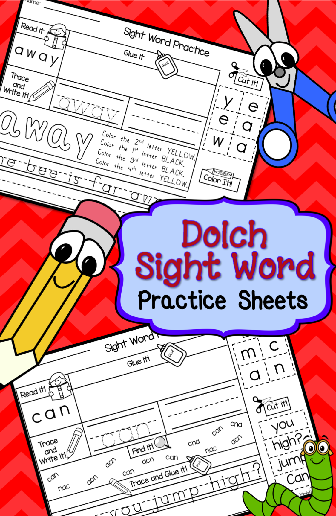 Word Work Sight Words Printables Set 1