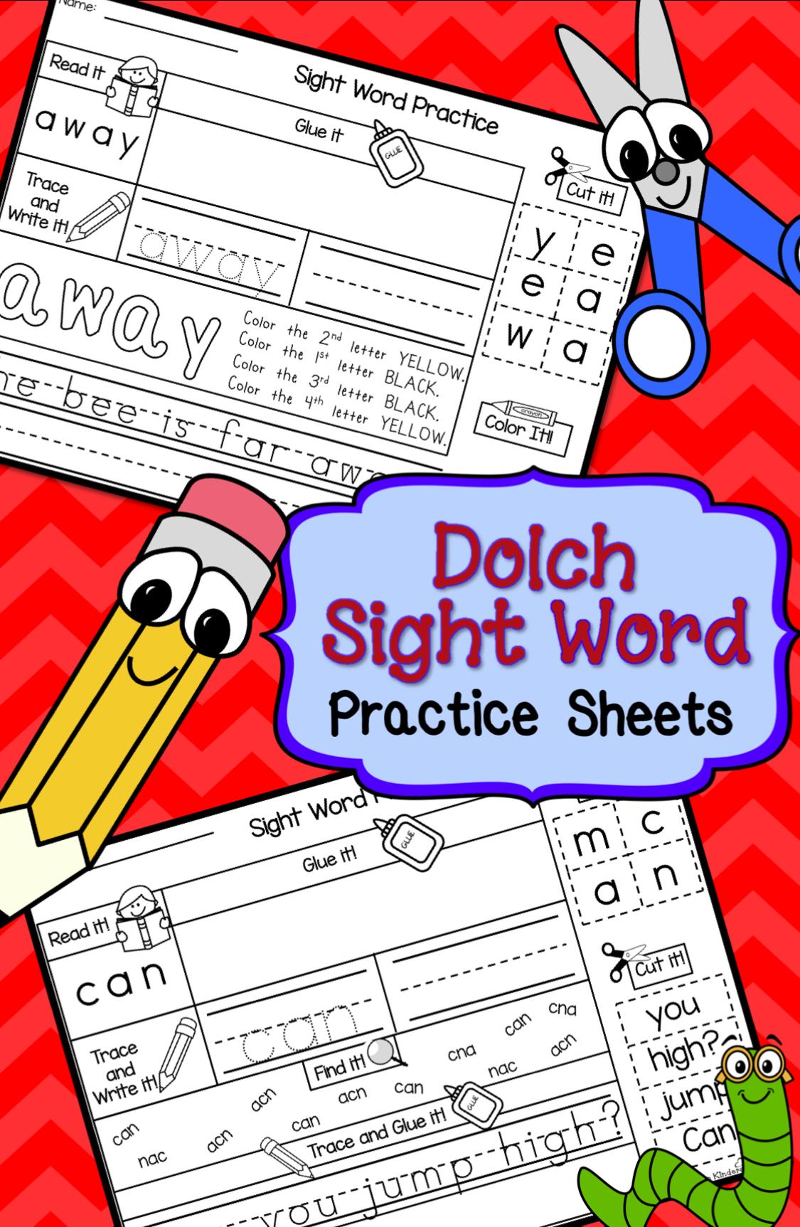 Word Work Sight Words Printables Set 1