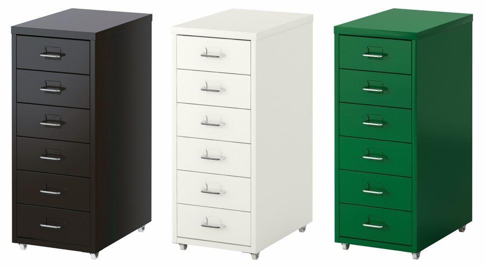 Ikea Helmer 6 Drawer Unit Multi Metal A4 Drawers Unit On Castors