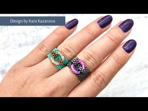 Photo of London Underground Ring Tutorial   Swarovski Fancy Stone Cosmic Rings  DIY & Crafts   Beaded ring