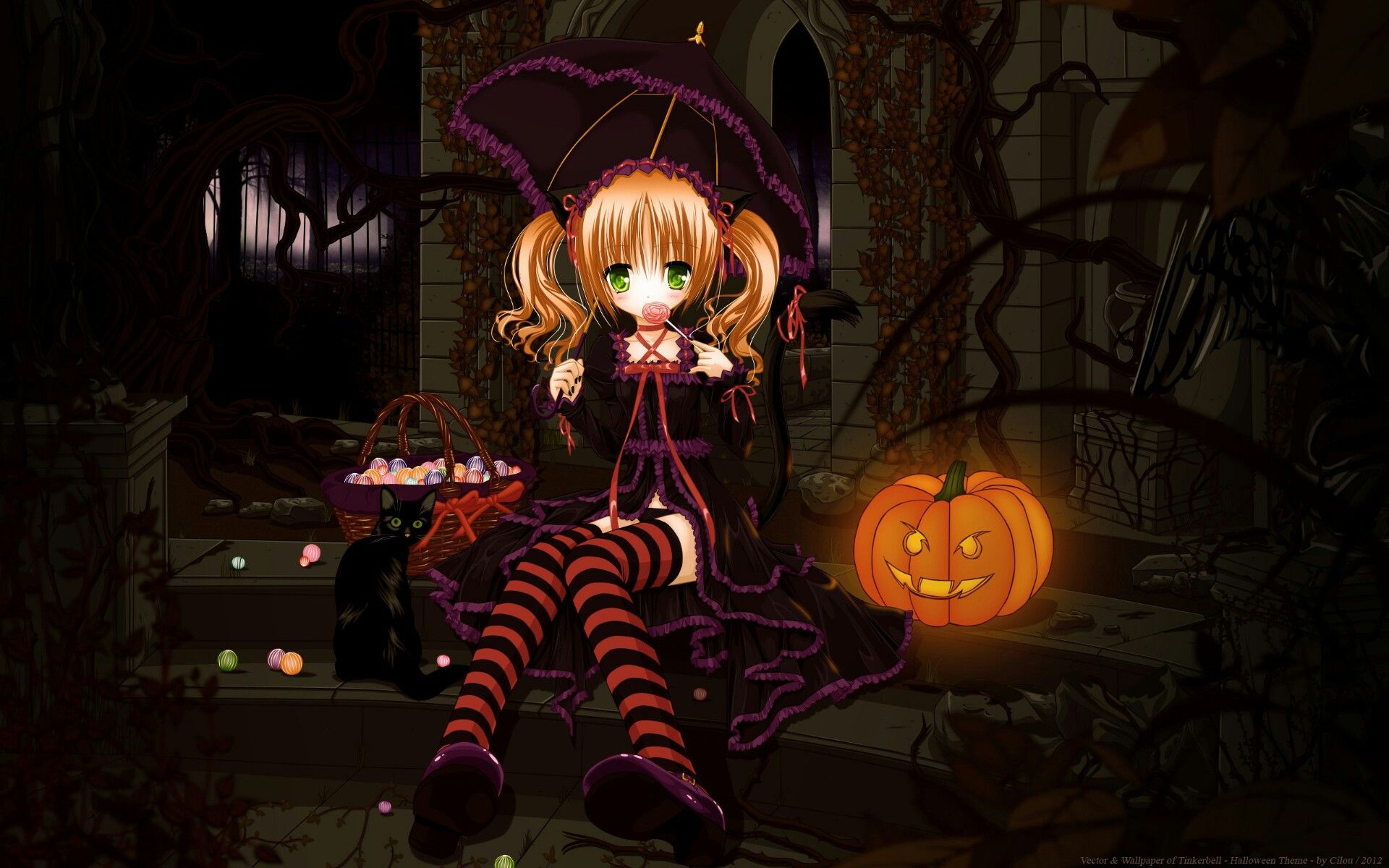 Cute Halloween Anime Wallpaper Hd With Images Anime Wallpaper