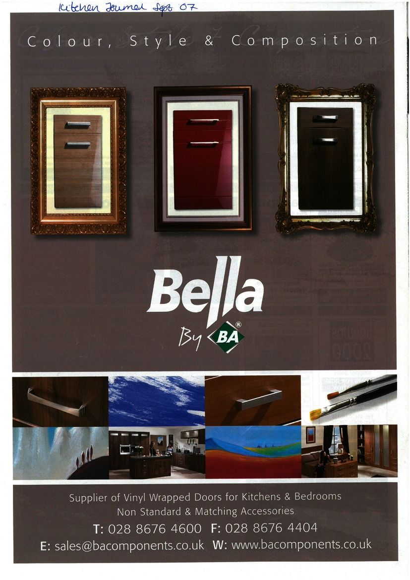 BA Components. Bella by BA. Kitchen and Bedroom Doors. & BA Components. Bella by BA. Kitchen and Bedroom Doors. | BA Adverts ...