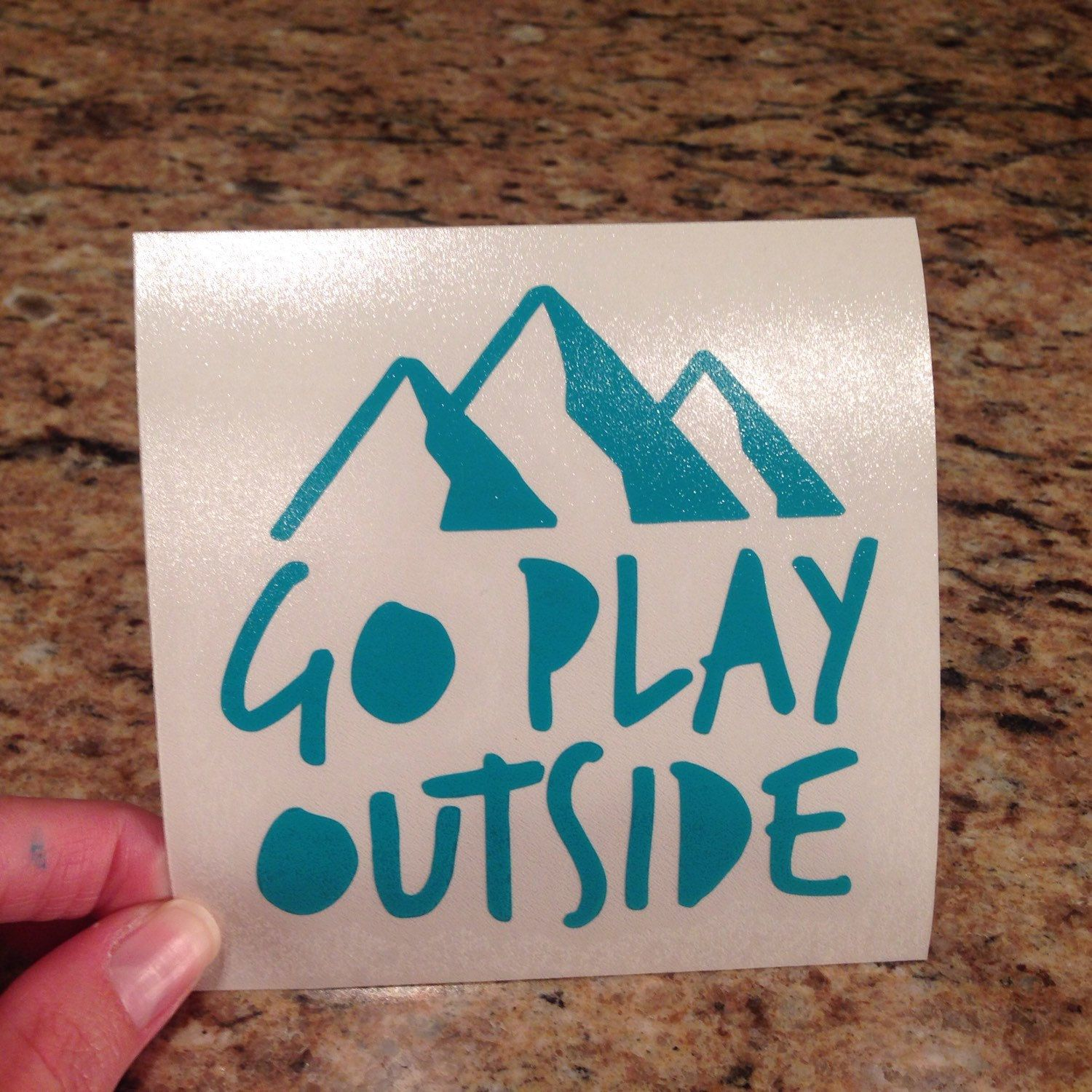 Go Play Outside laptop decal! I've shown the white version before, but I  wanted to show off how pretty the turquoise is! I have 20 color options to  choose ...