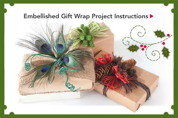 Embellished Gift Wrap Project Instructions