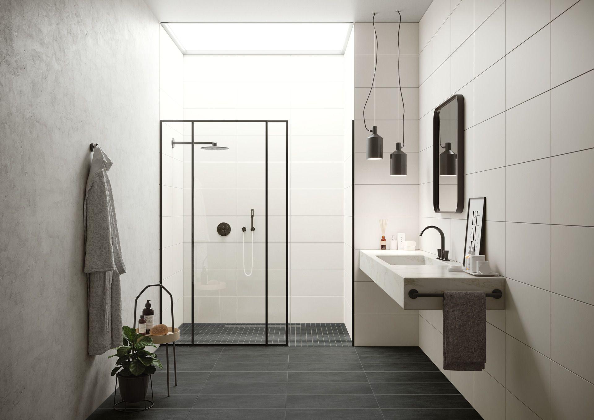 Puristische Dusche In Attraktivem Badezimmer L Bodengleich Und Modern Badezimmer Gestalten Dusche Badezimmer