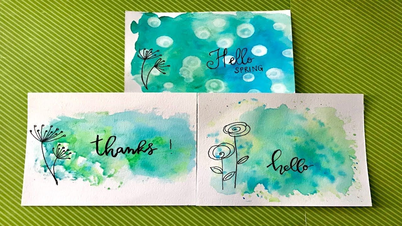 Watercolor Background Tecniques For Beginners Art Journaling