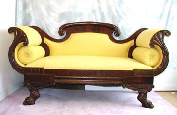 Empire Furniture Sofa Simmons Leather Second Couch Antiques Pinterest