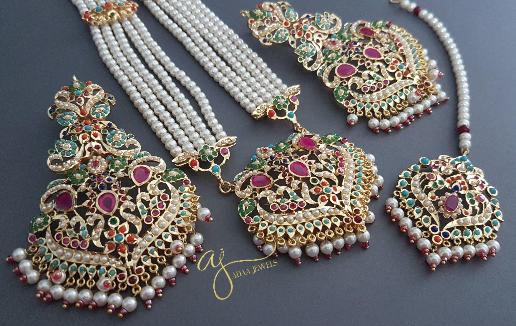 Jadau jewellery set in 2021 indian wedding jewelry sets