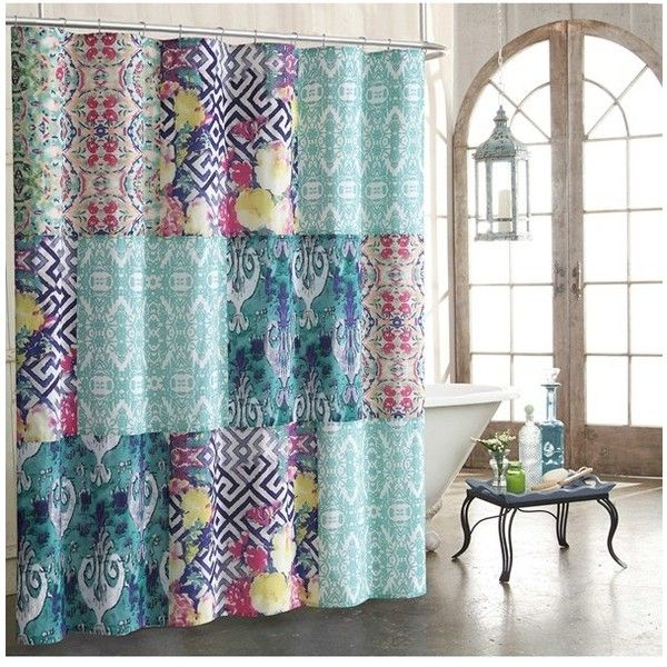 Tracy Porter For Poetic Wanderlust 'Florabella' Shower Curtain ($60) ❤ liked on Polyvore featuring home, bed & bath, bath and shower curtains