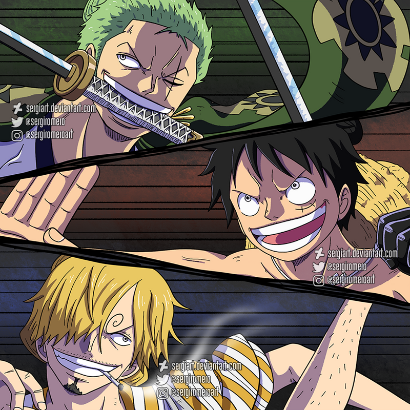 Cool cover one piece wallpaper wallpaper 4k. One Piece - Monster trio by SergiART on DeviantArt in 2020 ...