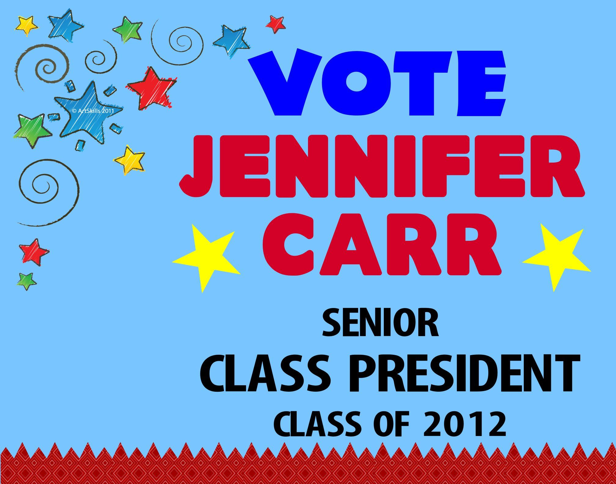 Make a Vote for School President Poster | School Election Poster ...
