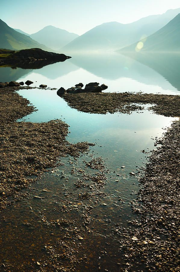 Rocks On The Beach Lake District Scenic Lakes Cool Places To Visit