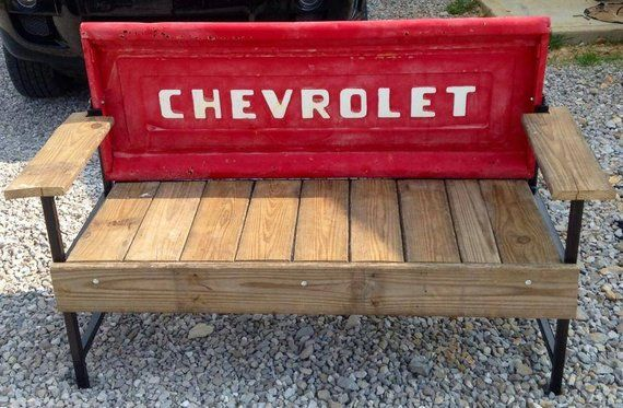 Rustic Vintage Tailgate Benches Tailgate Bench Truck Tailgate Bench Car Part Furniture
