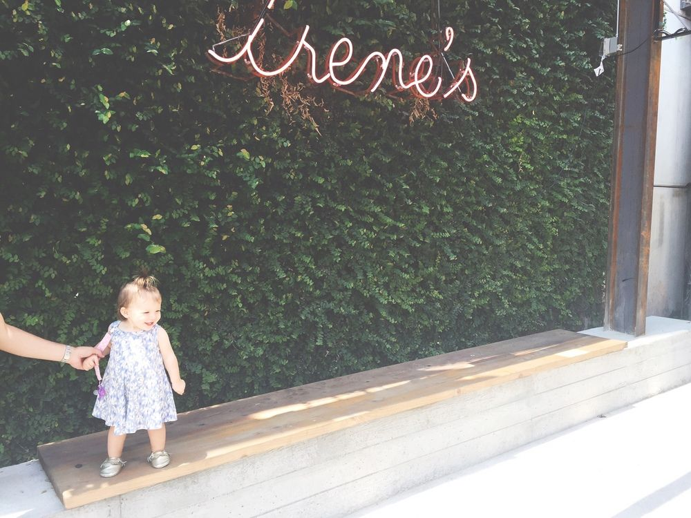 Irene's by Jennifer Stamps Photography | cute toddler in downtown Austin, Irene's downtown Austin