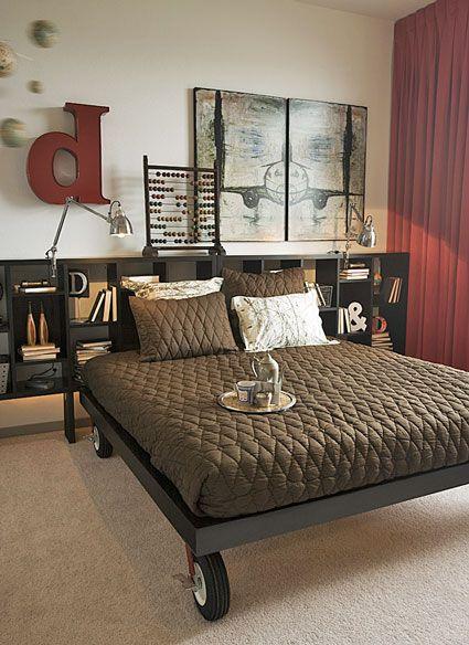 Put Your Bed On Lockable Casters Ideias Para Quarto Cama Feita