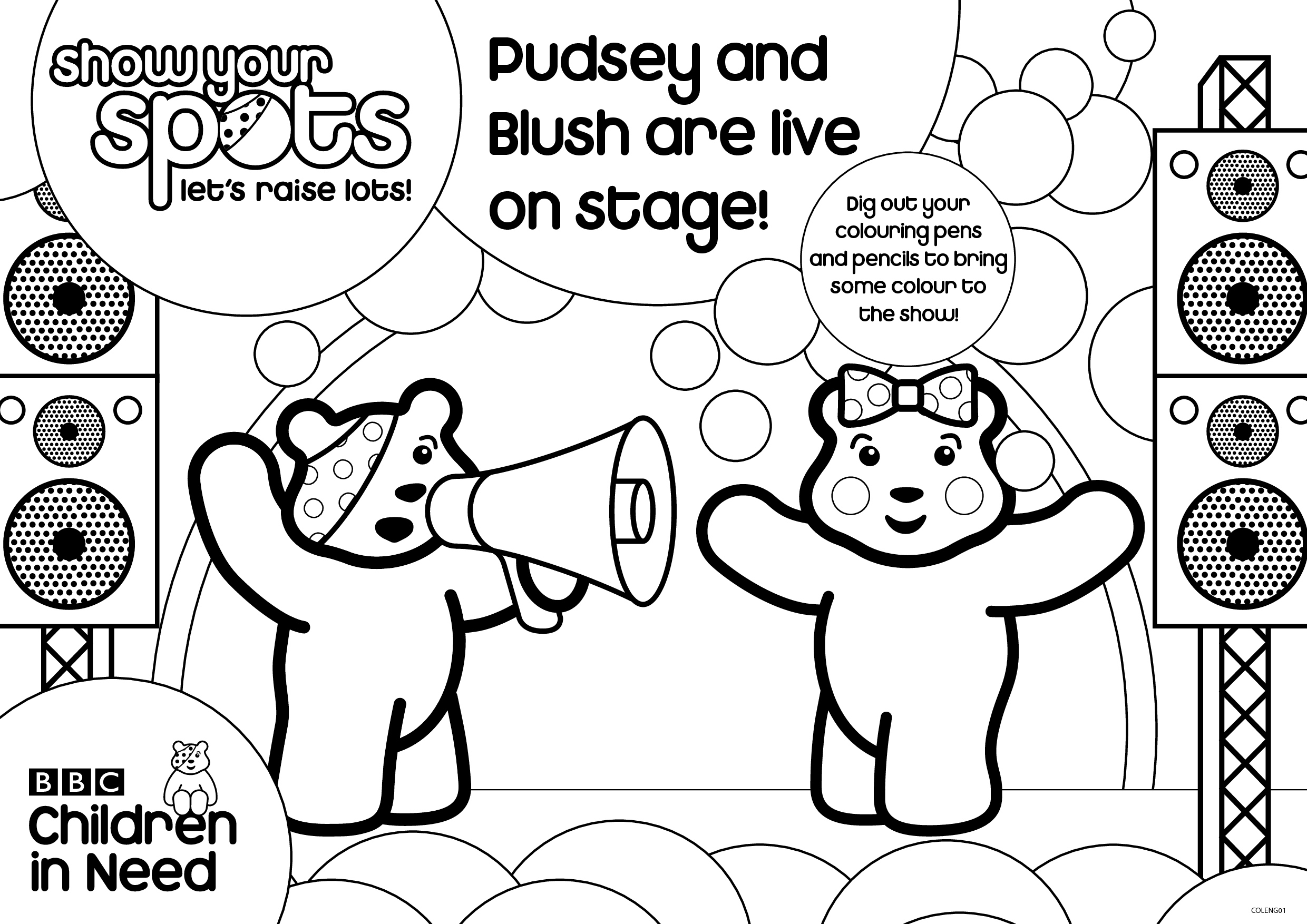 Pudsey and Blush are live on stage by liaoqinmei