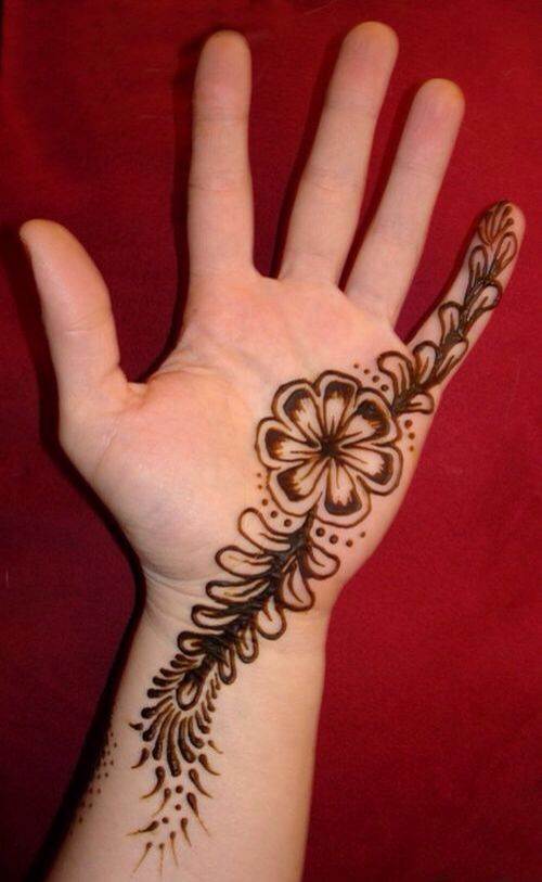Girl With Henna Design On Her Palm Henna Designs Easy Henna