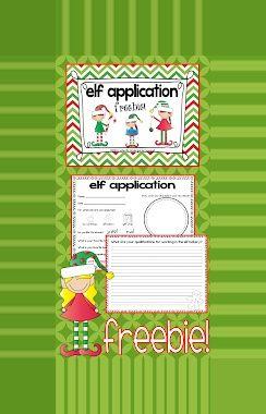 #application #christmas #elf #freebie #winter break bingo first grade Christmas Elf Application Freebie! Kindergarten Squared: Freebie Elf