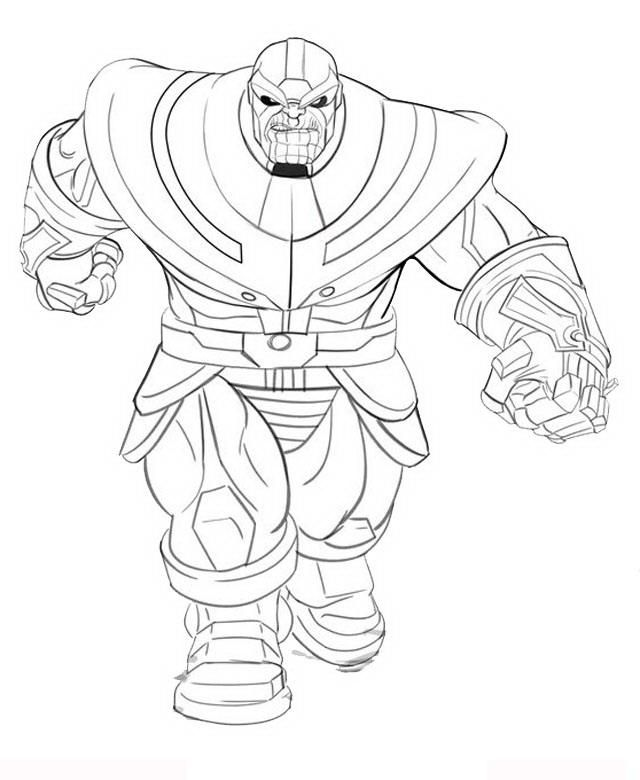 Thanos printable coloring pages ~ Thanos Coloring Pages for Adults #coloring | Elsa coloring ...