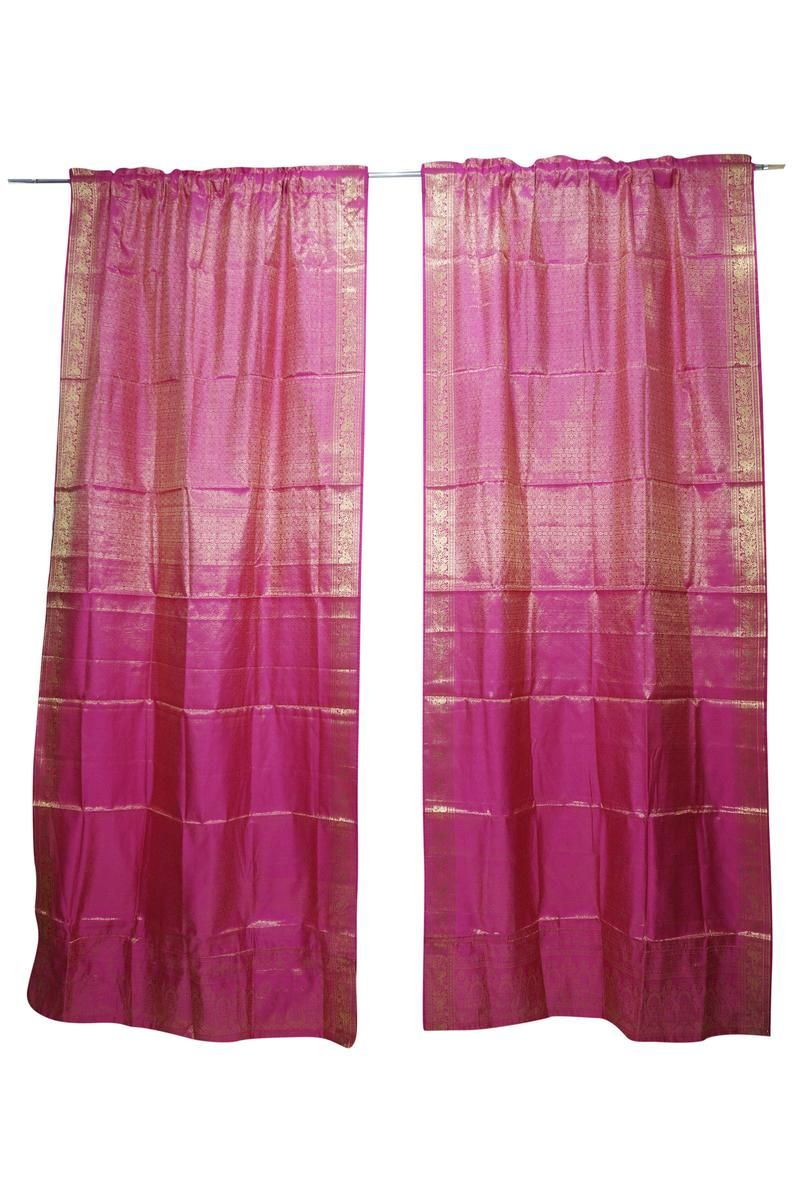 Pin On Bohemian Sari Curtains
